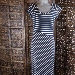 Athleta Blue Striped Dress